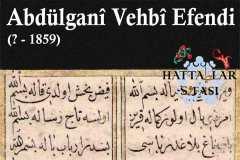 Hattat Abdülgani Vehbi Efendi, Hayatı ve Eserleri