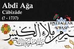 hattat-cabizade-abdi-ağa