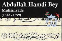 Hattat Muhsinzade Abdullah Hamdi Bey, Hayatı ve Eserleri