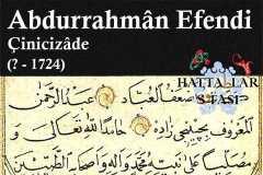 Hattat Çinicizade Abdurrahman Efendi, Hayatı ve Eserleri