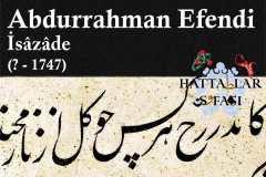 hattat-isazade-abdurrahman-efendi