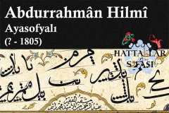 hattat-ayasofyalı-abdurrahman-hilmi-efendi-hat-eserleri-galerisi