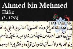 Hattat Hafız Ahmed bin Mehmed, Hayatı ve Eserleri