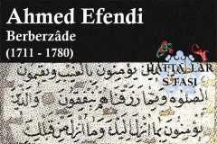 Hattat Berberzade Ahmed Efendi, Hayatı ve Eserleri