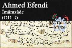 Hattat İmamzade Ahmed Efendi, Hayatı ve Eserleri