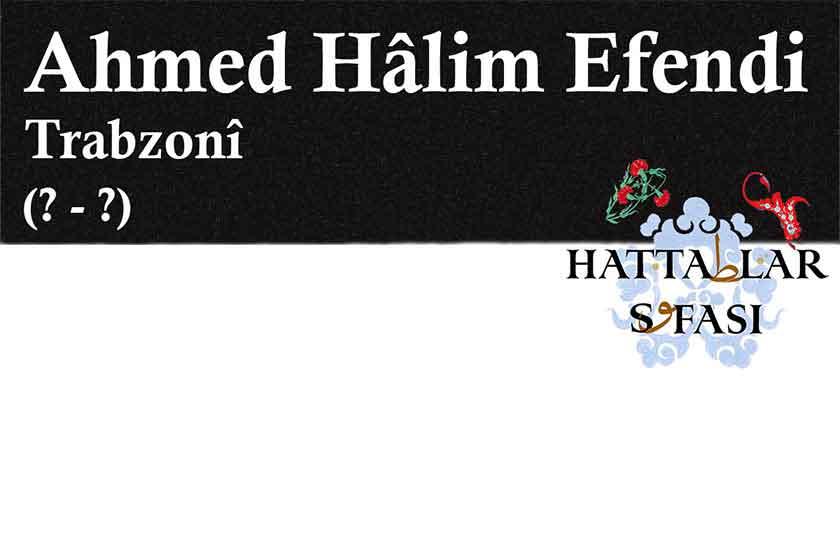 Hattat Trabzonlu Ahmed Halim Efendi, Hayatı ve Eserleri