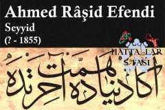 Hattat Seyyid Ahmed Raşit Efendi, Hayatı ve Eserleri
