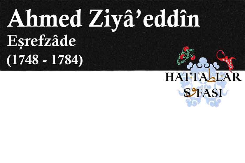 Hattat Eşrefzade Ahmed Ziyaettin Efendi, Hayatı ve Eserleri
