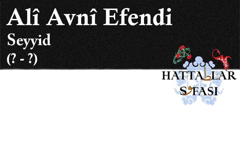 Hattat Seyyid Ali Avni Efendi, Hayatı ve Eserleri