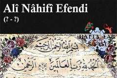 Hattat Ali Nahifi Efendi, Hayatı ve Eserleri