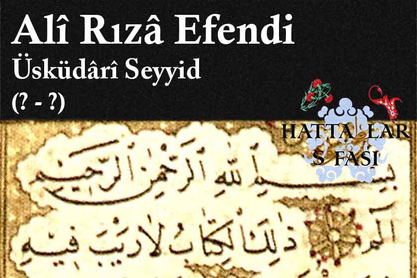Hattat Üsküdarlı Seyyid Ali Rıza Efendi, Hayatı ve Eserleri