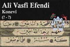 Hattat Konyalı Ali Vasfi Efendi, Hayatı ve Eserleri