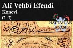 Hattat Konyalı Ali Vehbi Efendi, Hayatı ve Eserleri