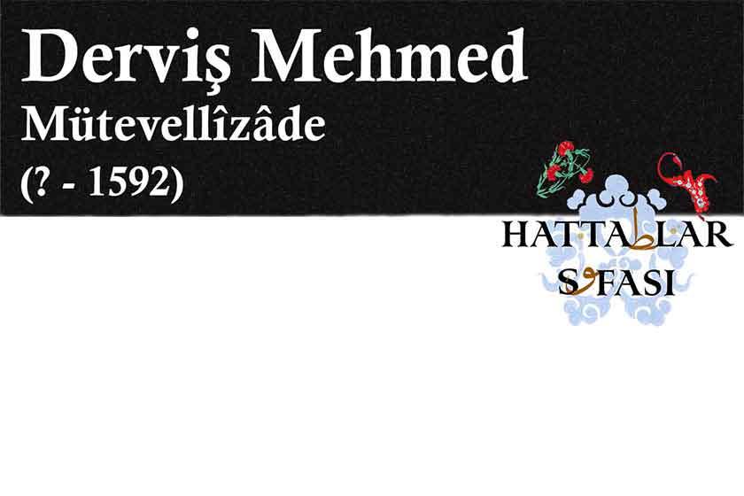 Hattat Mütevellizade Derviş Mehmed Efendi, Hayatı ve Eserleri