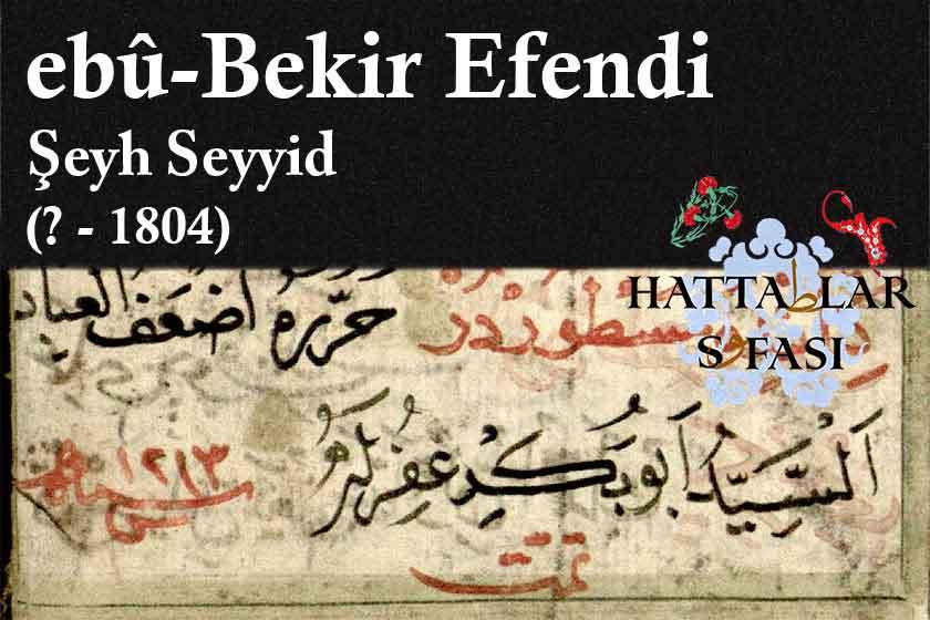 Hattat Şeyh Seyyid Ebubekir Efendi, Hayatı ve Eserleri