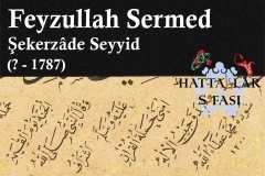 hattat-şekerzade-seyyid-feyzullah-sermed-efendi