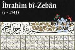 Hattat İbrahim Bizeban, Hayatı ve Eserleri