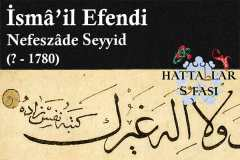 hattat-nefeszade-seyyid-ismail-efendi