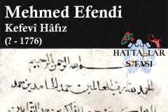 mehmed-efendi-kefevi-hafız
