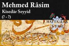 hattat-kisedar-seyyid-mehmed-rasim-efendi