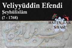 Hattat Şeyhülislam Veliyyüddin Efendi, Hayatı ve Eserleri